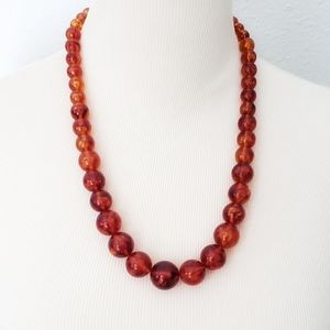 Vintage Amber Lucite Necklace